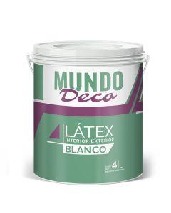 Pintura Para Exterior Interior Latex Blanco Mundo Deco 4 L