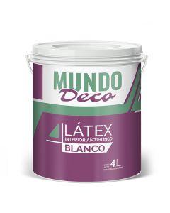 Pintura Para Interior Latex Blanco Mundo Deco 4 L