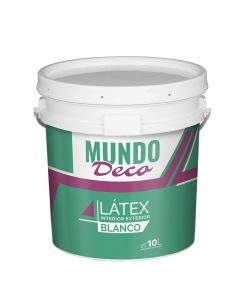 Pintura Para Exterior Interior Latex Blanco Mundo Deco 10 L