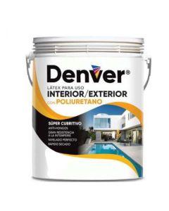 DENVER LÁTEX INTERIOR EXTERIOR con Poliuretano 20 litros