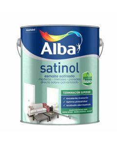 Satinol Esmalte Al Agua Satinado (Negro) 4 L