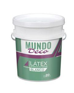 Pintura Para Exterior Interior Latex Blanco Mundo Deco 20 L