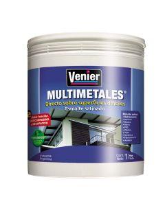 Esmalte Al Agua Blanco Satinado Multimetales Venier 1 L